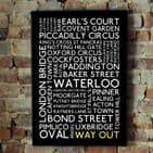 London Travel Typographic Art Print